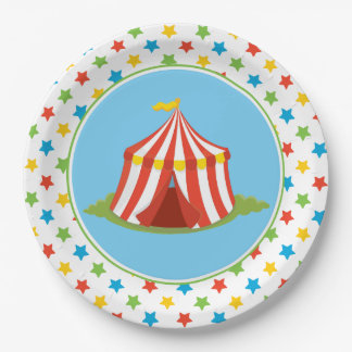Circus Theme | Big Top | Circus Tent 9 Inch Paper Plate