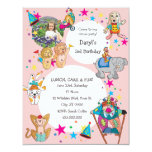 Circus Theme Children's Birthday Party Invitation