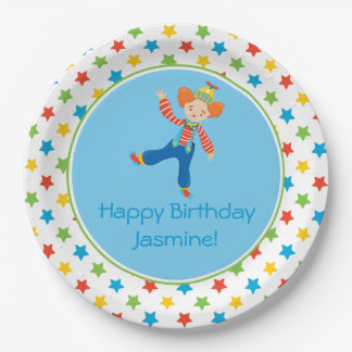 Circus Theme   Clown   Personalized 9 Inch Paper Plate