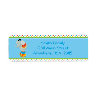 Circus Theme | Elephant |  Personalized Return Address Label