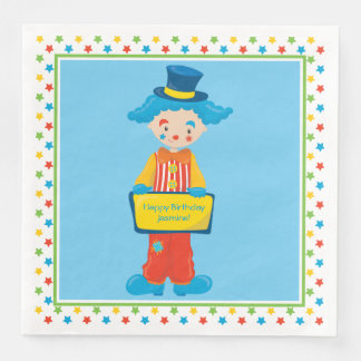 Circus Theme | Funny Clown | Personalized Disposable Serviette