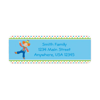 Circus Theme | Funny Clown |  Personalized Return Address Label