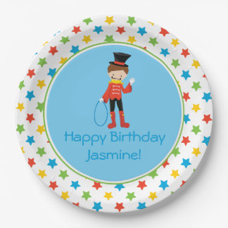 Circus Theme   Ringmaster  Personalized 9 Inch Paper Plate