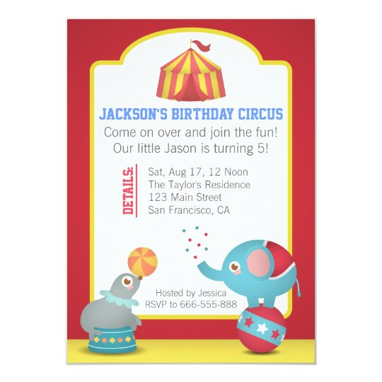 Circus Themed Fun Birthday Party with Cute Animals