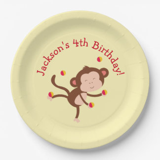 Circus Themed Party Plates for Birthday 9 Inch Paper Plate