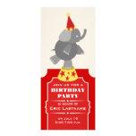 Circus Ticket Elephant Birthday Party Custom Invitation