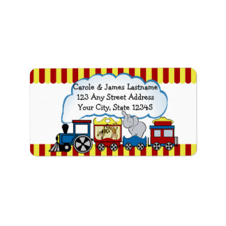 Circus Train Address Label