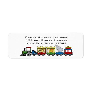 Circus Train Address Return Address Label