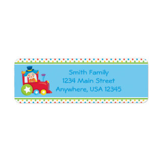 Circus Train | Circus Clown |  Personalized Return Address Label