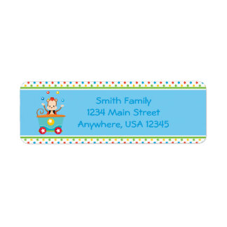 Circus Train | Circus Monkey |  Personalized Return Address Label