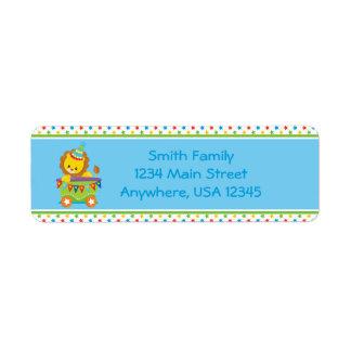 Circus Train | Lion |  Personalized Return Address Label