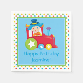 Circus Train | Personalized Paper Napkin