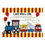 Circus Train Photo Custom Announcements