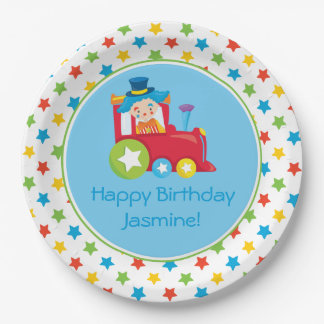 Circus Train | Train Engine | Personalized 9 Inch Paper Plate