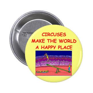 circuses 6 cm round badge