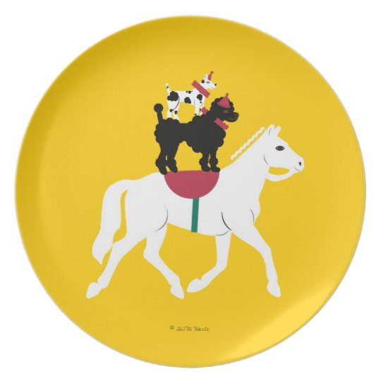 Cirque de Martzkins Bare Back Riding Dogs Plate