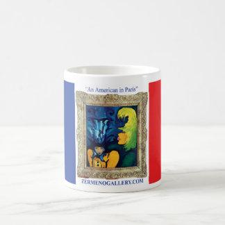 """Cirque Mére et Enfant"" designed on French Flag Classic White Coffee Mug"