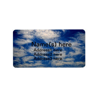 Cirrus Clouds like Angels flying Address Label