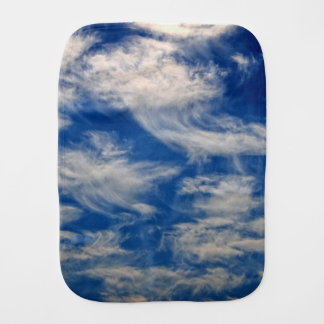 Cirrus Clouds like Angels flying Burp Cloth