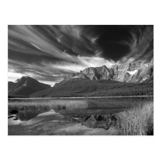Cirrus clouds over Waterfowl Lake, Banff Post Card