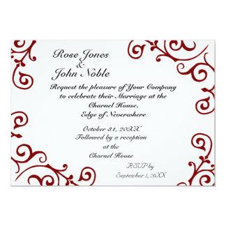 Cirrus Ivory (Red) Wedding Invitation
