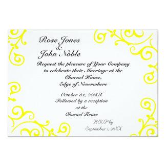 Cirrus Ivory (Yellow) Wedding Invitation