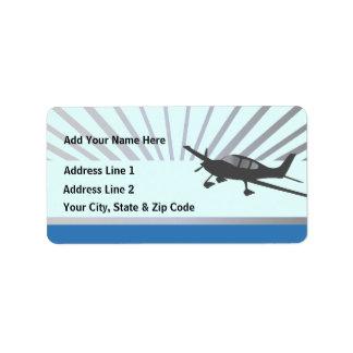 Cirrus SR22 Address Label