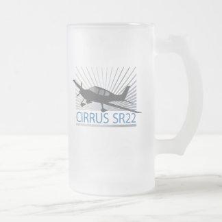 Cirrus SR22 Frosted Glass Mug