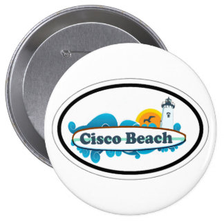 Cisco Beach Oval Design Button