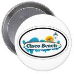 Cisco Beach Oval Design. Button