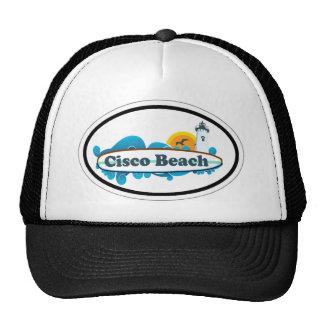Cisco Beach Oval Design. Trucker Hat