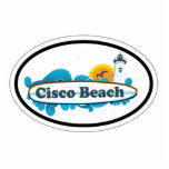 Cisco Beach Oval Design. Photo Cut Out