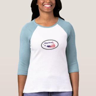 Cisco Beach Oval Design. T Shirts