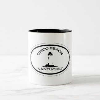 Cisco Beach Oval Design. Two-Tone Mug