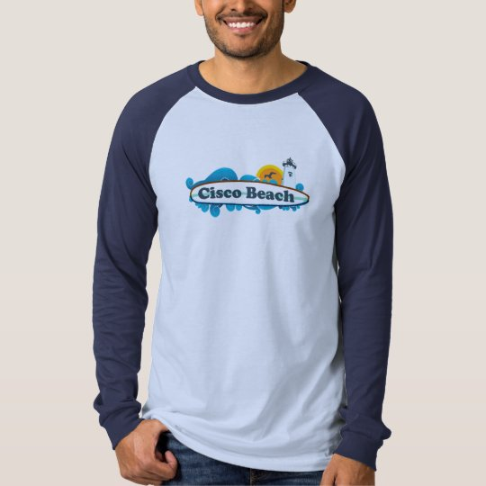 "Cisco Beach ""Surf"" Design. T-Shirt"