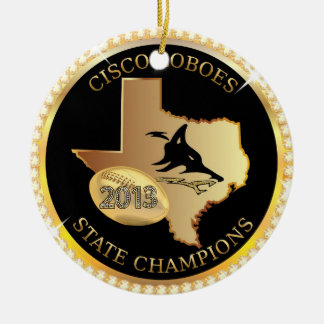 Cisco Loboes State Champions bling ornament custom