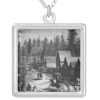 Cisco, station county of Placer Silver Plated Necklace