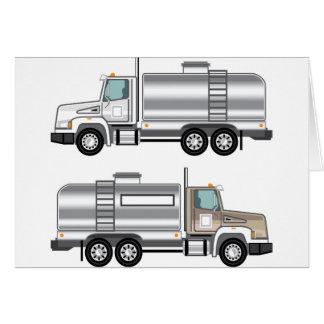 Cistern Truck Liquid Cargo Greeting Card