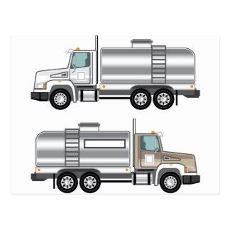 Cistern Truck Liquid Cargo Postcard