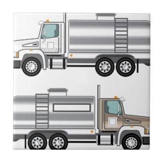 Cistern Truck Liquid Cargo Small Square Tile