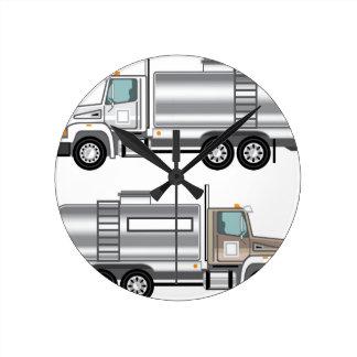 Cistern Truck Liquid Cargo Wall Clocks
