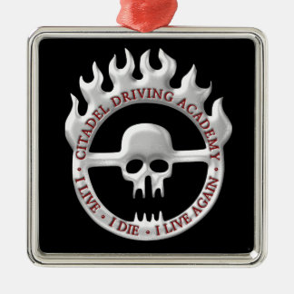 Citadel Driving Academy Silver-Colored Square Decoration