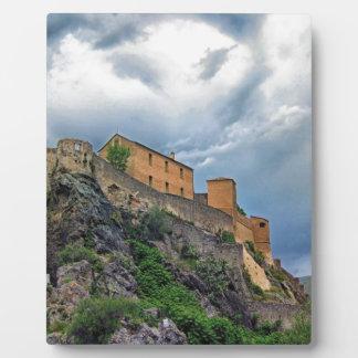 Citadelle De Corte France Landmark Historic Castle Plaque
