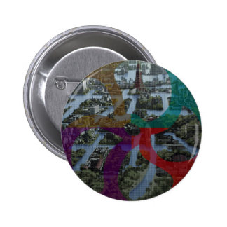 CITI SCAPE Improvisation Landscape Architecture 6 Cm Round Badge