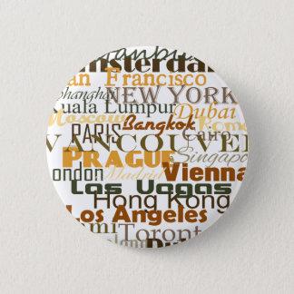 Cities Around the World 6 Cm Round Badge
