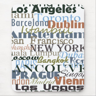 Cities Around the World Mouse Mat