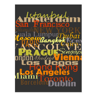 Cities Around the World Postcard