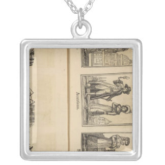 Cities, costumes silver plated necklace