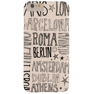 Cities of Europe Chic Modern Typography City Gifts Barely There iPhone 6 Plus Case