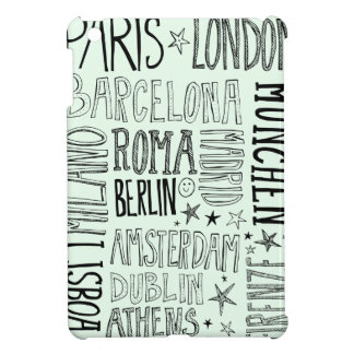 Cities of Europe Chic Modern Typography City Gifts Cover For The iPad Mini